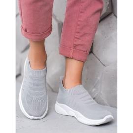 Sweet Shoes Wygodne Slipony Na Platformie szare 1