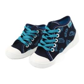 Befado obuwie dziecięce 218P059 granatowe niebieskie 3