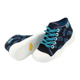 Befado obuwie dziecięce 218P059 granatowe niebieskie 4