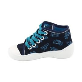 Befado obuwie dziecięce 218P059 granatowe niebieskie 2