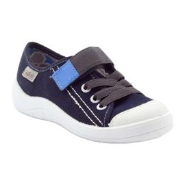 Befado obuwie dziecięce 251Y047 granatowe szare 2