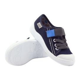 Befado obuwie dziecięce 251Y047 granatowe szare 4