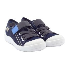 Befado obuwie dziecięce 251Y047 granatowe szare 5