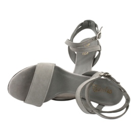 Sandały na szpilce szare Espinto S333/5 4