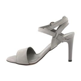 Sandały na szpilce szare Espinto S333/5 1