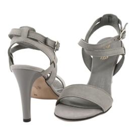 Sandały na szpilce szare Espinto S333/5 3