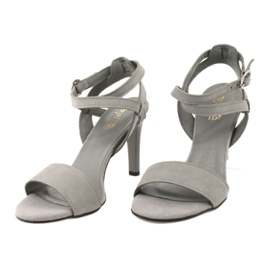 Sandały na szpilce szare Espinto S333/5 2