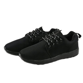 Czarne sportowe męskie obuwie MN15-2 3
