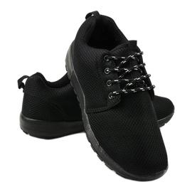 Czarne sportowe męskie obuwie MN15-2 4