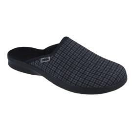 Befado obuwie męskie pu 548M012 czarne szare 1