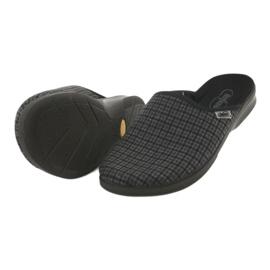 Befado obuwie męskie pu 548M012 czarne szare 5