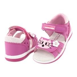 Sandałki dziewczęce kotek American Club DR22/20 różowe 3