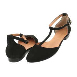 Sandały damskie czarne pięta/palce Angello 2236 3