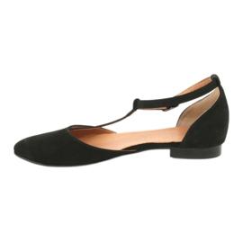 Sandały damskie czarne pięta/palce Angello 2236 1