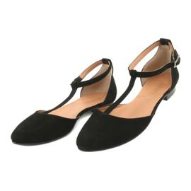 Sandały damskie czarne pięta/palce Angello 2236 2