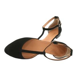 Sandały damskie czarne pięta/palce Angello 2236 5