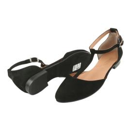 Sandały damskie czarne pięta/palce Angello 2236 4