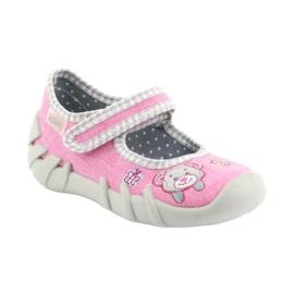 Befado obuwie dziecięce 109P180 różowe 4