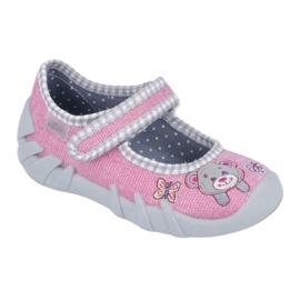Befado obuwie dziecięce 109P180 różowe 1