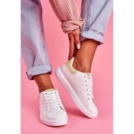 SEA Sportowe Damskie Buty Białe z Beżowym Zapiętkiem Milly 1