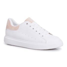 SEA Sportowe Damskie Buty Białe z Beżowym Zapiętkiem Milly 3
