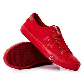 Trampki Męskie Cross Jeans Czerwone FF1R4056C 3