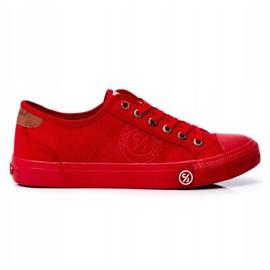 Trampki Męskie Cross Jeans Czerwone FF1R4056C 1