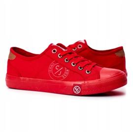 Trampki Męskie Cross Jeans Czerwone FF1R4056C 4