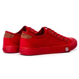 Trampki Męskie Cross Jeans Czerwone FF1R4056C 2