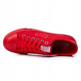 Trampki Męskie Cross Jeans Czerwone FF1R4056C 5