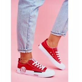 Trampki Damskie Cross Jeans Czerwone FF2R4074C 1