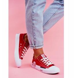 Trampki Damskie Cross Jeans Czerwone FF2R4074C 2