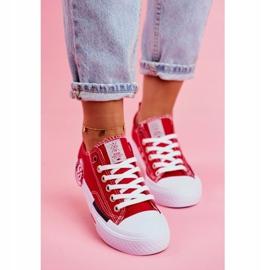 Trampki Damskie Cross Jeans Czerwone FF2R4074C 3