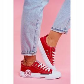 Trampki Damskie Cross Jeans Czerwone FF2R4074C 4