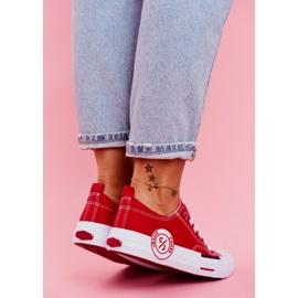 Trampki Damskie Cross Jeans Czerwone FF2R4074C 5