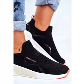 Sportowe Damskie Buty Cross Jeans Czarne FF2R4116C 4
