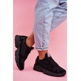 Sportowe Damskie Buty Cross Jeans Czarne FF2R4138C 2