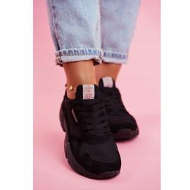Sportowe Damskie Buty Cross Jeans Czarne FF2R4138C 4