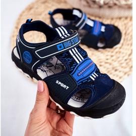 Sandałki Dziecięce Big Star Na Rzepy Granatowe FF374211 niebieskie 2