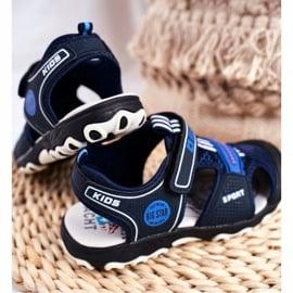 Sandałki Dziecięce Big Star Na Rzepy Granatowe FF374211 niebieskie 3
