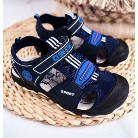 Sandałki Dziecięce Big Star Na Rzepy Granatowe FF374211 niebieskie 1