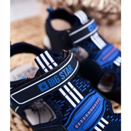 Sandałki Dziecięce Big Star Na Rzepy Granatowe FF374211 niebieskie 5
