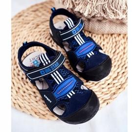 Sandałki Dziecięce Big Star Na Rzepy Granatowe FF374211 niebieskie 4