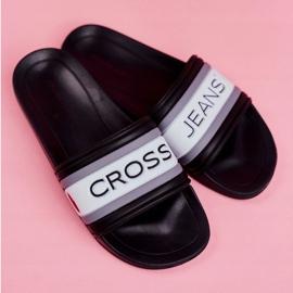 Klapki Damskie Cross Jeans Czarne FF2R4159C białe 4