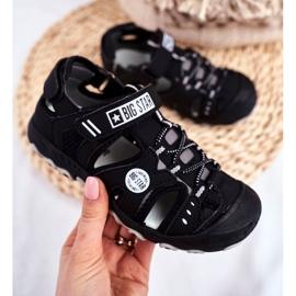 Sandałki Dziecięce Big Star Na Rzepy Czarne FF374210 2