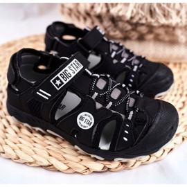 Sandałki Dziecięce Big Star Na Rzepy Czarne FF374210 1