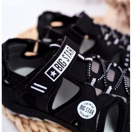 Sandałki Dziecięce Big Star Na Rzepy Czarne FF374210 4