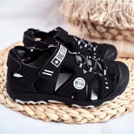 Sandałki Dziecięce Big Star Na Rzepy Czarne FF374210 3