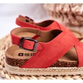 Sandałki Dziecięce Big Star Koral FF374171 różowe 4