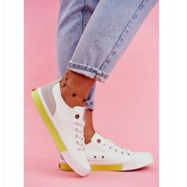 Trampki Damskie Cross Jeans Biało Żółte FF2R4042C białe 4